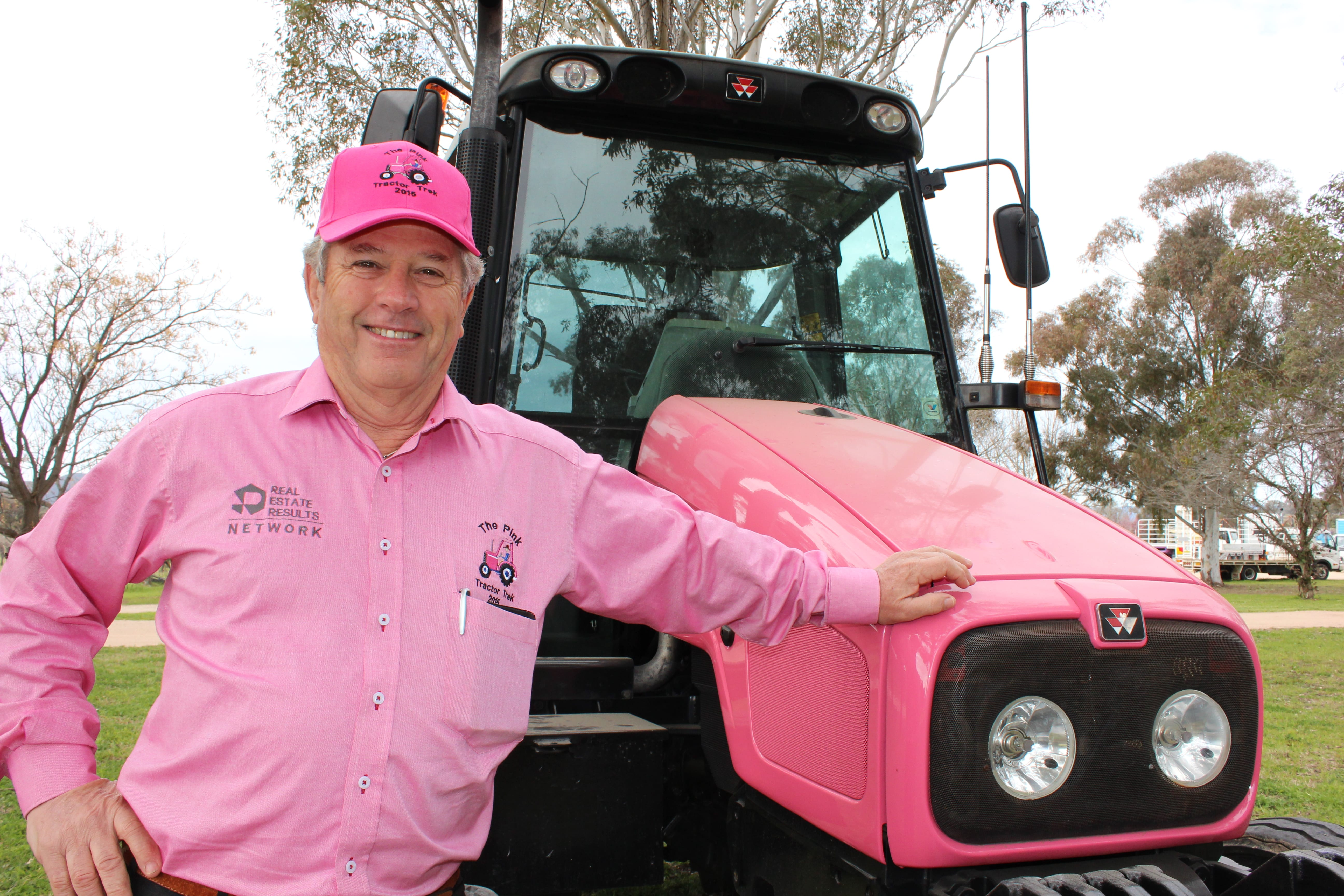 Photo of Local Hero on a Pink Tractor – Hugh Bateman