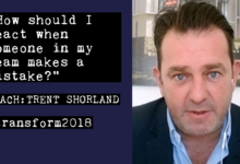 Photo of Trent Shorland: How should I react when someone in my team makes a mistake?