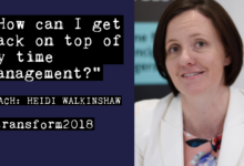 Photo of Heidi Walkinshaw: How can I get back on top of my time management?