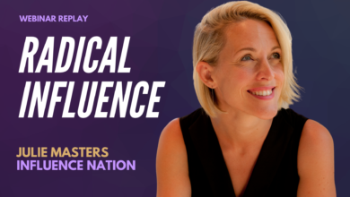 Photo of Radical Influence with Julie Masters