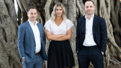 Ray White Queensland Chief Performance Officer Justin Nickerson, Growth Manager Courtney Martin, and CEO Jason Andrew