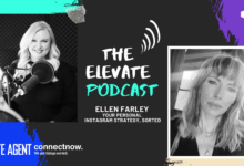 Image of Elevate podcast host Sam McLean and LJ Hooker senior digital strategist Ellen Farley